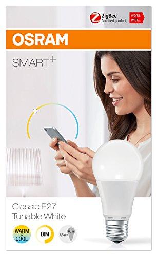 OSRAM Smart+ LED, ZigBee Lampe mit E27 Sockel, warmweiß bis tageslicht (2000K - 6500K), dimmbar, Alexa kompatibel - 4