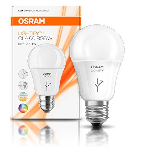 Osram Lightify Classic A LED Glühlampe, 10 Watt, E27, matt, Dimmbar, Warmweiß, Kompatibel mit Alexa 4052899926097 - 3