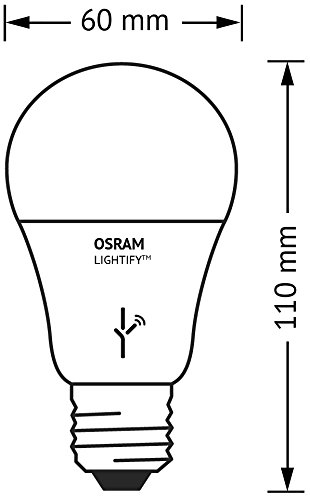 Osram Lightify CLASSIC A LED-Glühlampe Tunable White, Dimmbar, Warmweiß bis tageslicht 2700K - 6500K, Kompatibel mit Alexa - 4