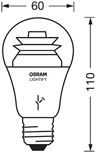 Osram Lightify Classic A LED-Glühlampe, 10 Watt, E27, klar, Dimmbar, Warmweiß 2700K, Kompatibel mit Alexa - 4