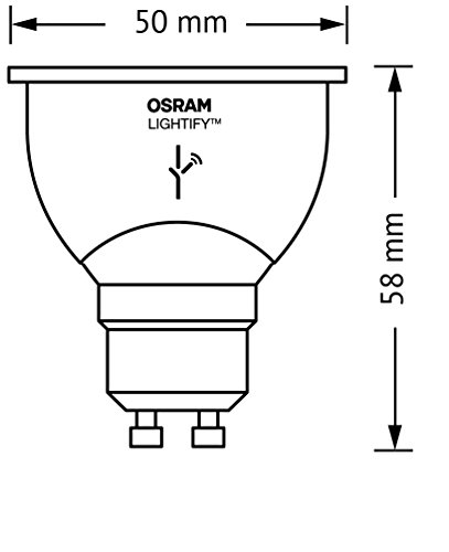 Osram Lightify PAR16 LED Reflektorlampe Tunable White, Dimmbar, Warmweiß, Kompatibel mit Alexa 4052899926103 - 4