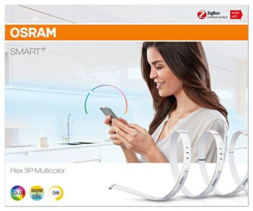 Osram Smart+ ZigBee RGB LED Strip, warmweiß, tageslicht (2000 K - 6500 K), dimmbar, Länge 3 x 60 cm, Alexa kompatibel - 4