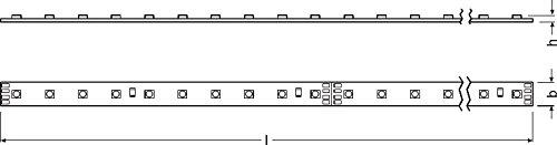 Osram Smart+ ZigBee RGB LED Strip, warmweiß, tageslicht (2000 K - 6500 K), dimmbar, Länge 3 x 60 cm, Alexa kompatibel - 6