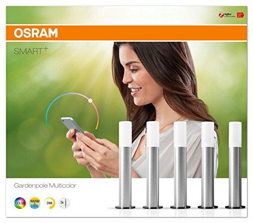 Osram Smart+ ZigBee LED Außen-/Gartenleuchte, warmweiß bis tageslicht, dimmbar, RGB Farbwechsel, 5 Spots, Alexa kompatibel - 4