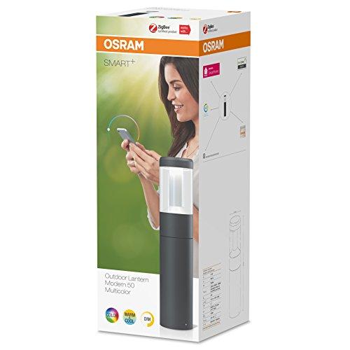 Osram Smart+ ZigBee LED Außen-/Gartenleuchte, dimmbar, warmweiß bis tageslicht, RGB Farbwechsel, Alexa kompatibel - 4