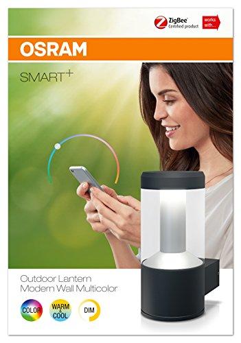 Osram Smart+ ZigBee LED Außen-/Wandleuchte, dimmbar, warmweiß bis tageslicht, RGB Farbwechsel, Alexa kompatibel - 3