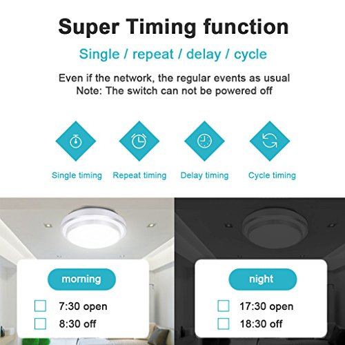 Sonoff Touch Lichtschalter für alexa,WiFi Touch Panel Schalter touch glas lichtschalter 1 gang Touch LED Lichtschalter Arbeit Mit Google Nest(Verbesserte Version) 1 weg - 8