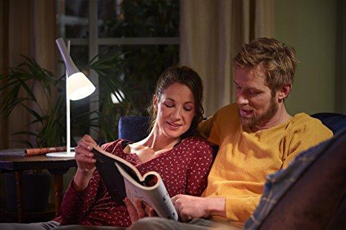 Philips Hue Explore LED Tischleuchte, inkl. Dimmschalter, dimmbar, alle Weißschattierungen, steuerbar via App, kompatibel mit Amazon Alexa (Echo, Echo Dot), weiß - 4