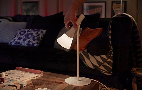 Philips Hue Explore LED Tischleuchte, inkl. Dimmschalter, dimmbar, alle Weißschattierungen, steuerbar via App, kompatibel mit Amazon Alexa (Echo, Echo Dot), weiß - 5