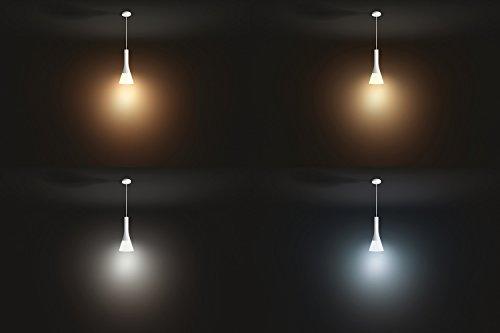 Philips Hue Explore LED Pendelleuchte, inkl. Dimmschalter, dimmbar, alle Weißschattierungen, steuerbar via App, kompatibel mit Amazon Alexa (Echo, Echo Dot), weiß - 4