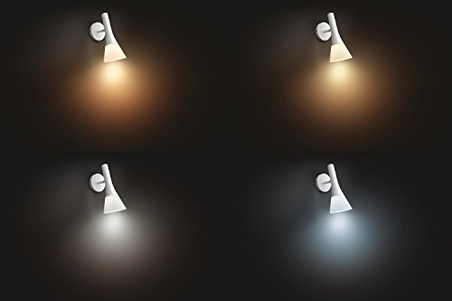 Philips Hue Explore LED Wandleuchte, inkl. Dimmschalter, dimmbar, alle Weißschattierungen, steuerbar via App, kompatibel mit Amazon Alexa (Echo, Echo Dot), weiß - 3