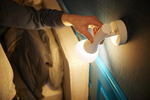 Philips Hue Explore LED Wandleuchte, inkl. Dimmschalter, dimmbar, alle Weißschattierungen, steuerbar via App, kompatibel mit Amazon Alexa (Echo, Echo Dot), weiß - 5