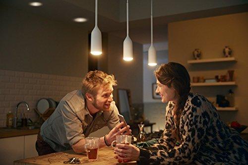 Philips Hue Devote LED Pendelleuchte, inkl. Dimmschalter, dimmbar, alle Weißschattierungen, steuerbar via App, kompatibel mit Amazon Alexa (Echo, Echo Dot), weiß - 4