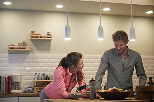 Philips Hue Devote LED Pendelleuchte, inkl. Dimmschalter, dimmbar, alle Weißschattierungen, steuerbar via App, kompatibel mit Amazon Alexa (Echo, Echo Dot), weiß - 5