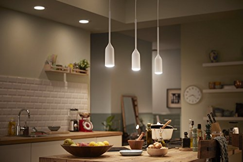 Philips Hue Devote LED Pendelleuchte, inkl. Dimmschalter, dimmbar, alle Weißschattierungen, steuerbar via App, kompatibel mit Amazon Alexa (Echo, Echo Dot), weiß - 6
