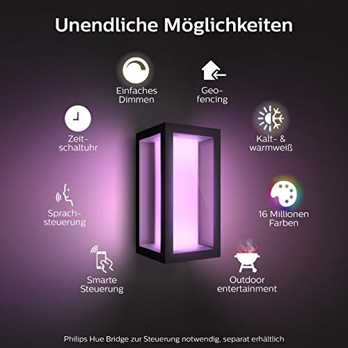 Philips Hue Impress LED Wandleuchte Schmal Outdoor - 2