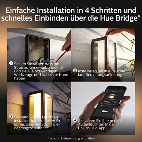 Philips Hue Impress LED Wandleuchte Schmal Outdoor - 7