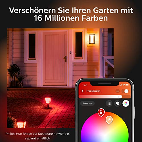 Philips Hue Impress LED Wandleuchte Schmal Outdoor - 8