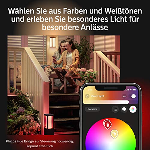 Philips Hue Impress LED Wandleuchte Schmal Outdoor - 9