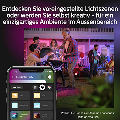 Philips Hue Impress LED Wandleuchte Schmal Outdoor - 10