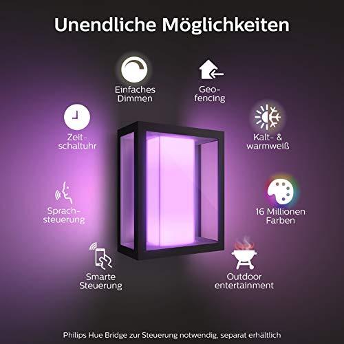 Philips Hue Impress LED Wandleuchte Breit Outdoor - 2