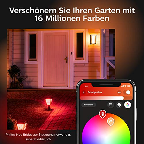 Philips Hue Impress LED Wandleuchte Breit Outdoor - 8