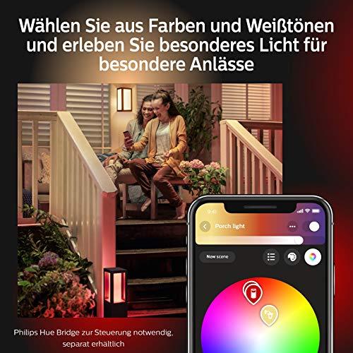 Philips Hue Impress LED Wandleuchte Breit Outdoor - 9