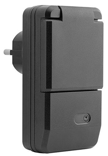 mumbi 4er Set Outdoor Funksteckdosen - 4 x Funksteckdose für Aussen + 1 x Fernbedienung - Plug & Play - 1100 Watt - 3