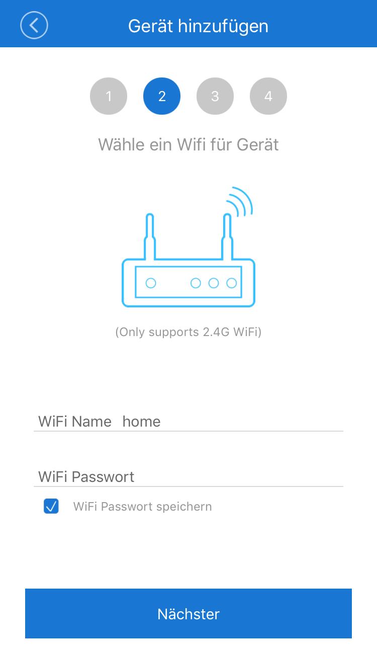 WLAN Lichtschalter mit WiFi verbinden