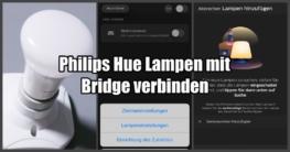 Philips Hue Lampen mit Bridge verbinden-Beitragsbild