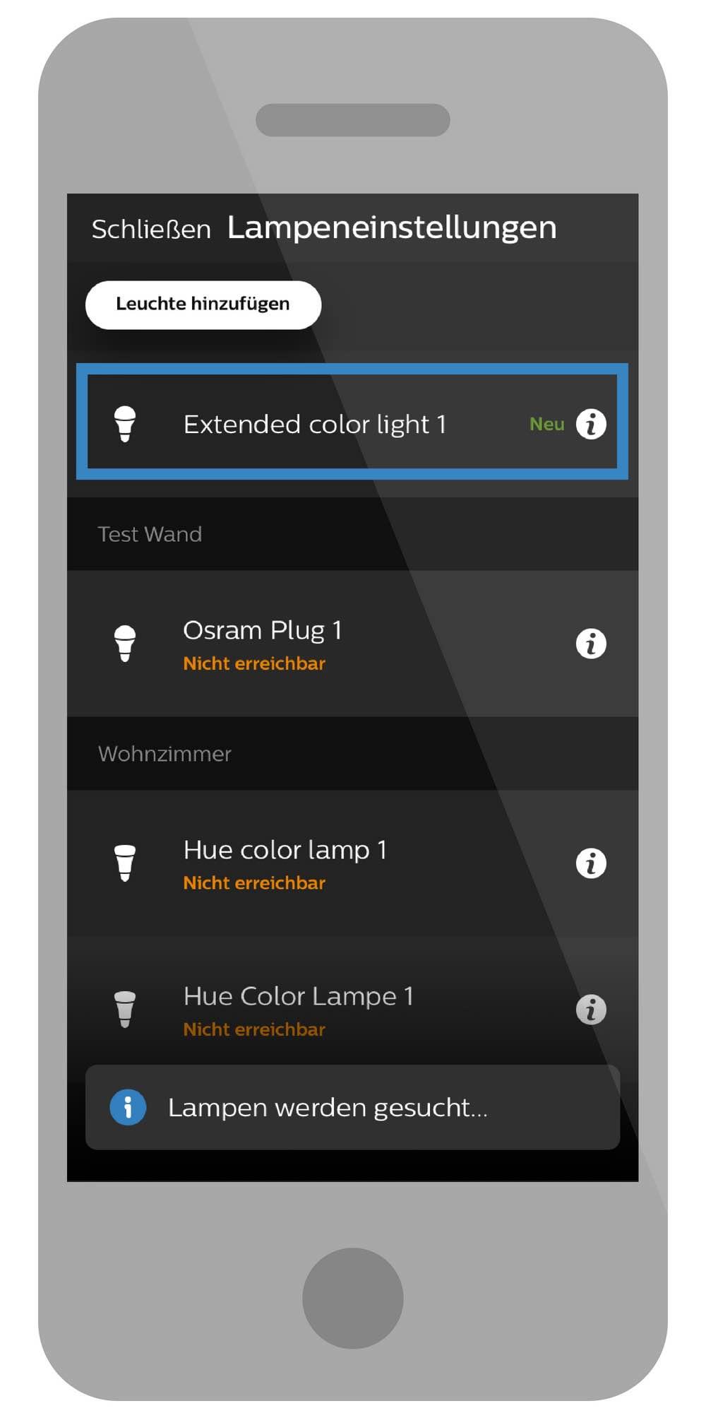 osram smart+ lampe hinzufügen